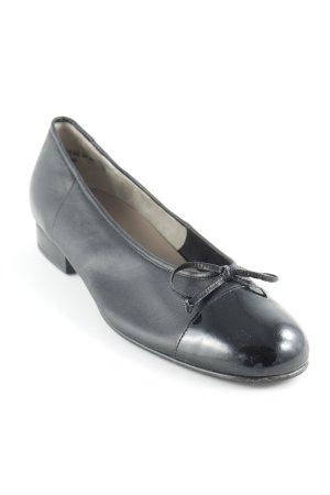 Gabor Lakleren ballerina's zwart Lederen elementen
