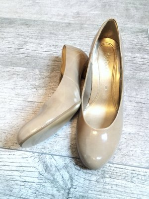 GABOR Lackpumps in beige