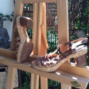 Sandalo con cinturino marrone Pelle