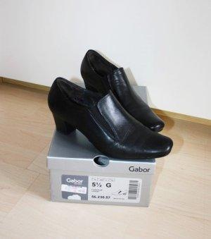 Gabor Leder Schuhe Pumps Größe 38,5 schwarz Gr 5 1/2 Comfort Foulardcalf neuwertig