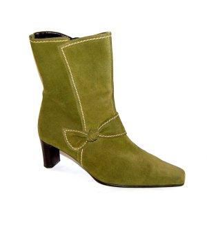 Gabor Leder Stiefelette grün Gr.40,5