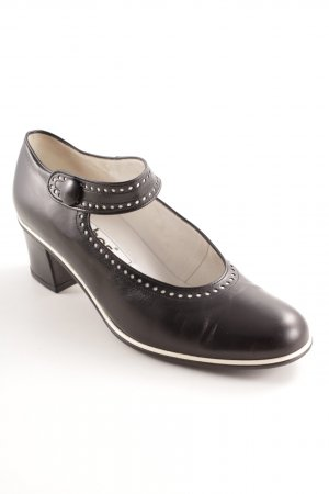 Gabor Mary Jane Pumps black-white elegant