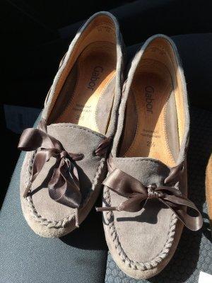 Gabor Mocassins gris-gris brun cuir