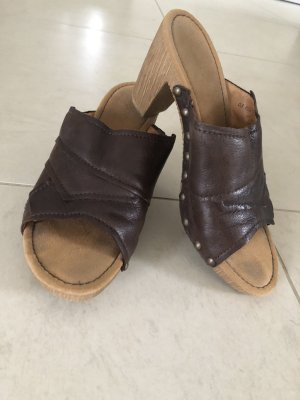 Gabor Heel Pantolettes dark brown