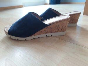 Gabor Comfort Mule à talon bleu