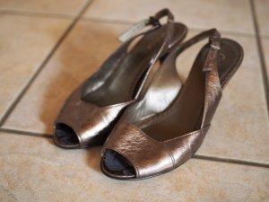 Gabor Peep Toes 37 bronze 80er Riemchenpeeptoes