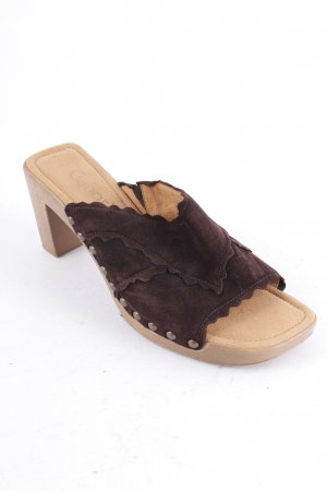Gabor Platform High-Heeled Sandal dark brown casual look