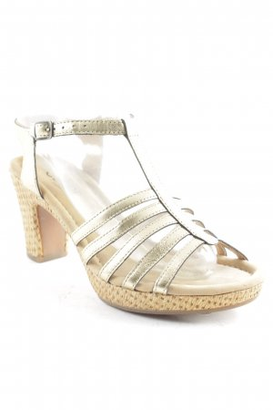 Gabor Platform High-Heeled Sandal gold-colored extravagant style