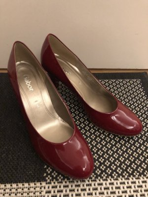 Gabor Pumps Lackoptik rot