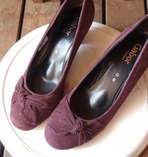 Gabor Loafers paars-bordeaux Suede