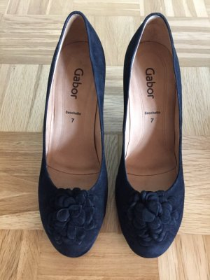 Gabor Pumps - Velourleder Schwarz - Gr.: 40,5 / UK: 7