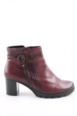 Gabor Zipper Booties red color gradient business style