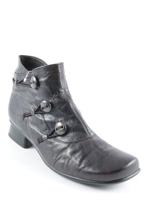 Gabor Reißverschluss-Stiefeletten dunkelbraun Casual-Look