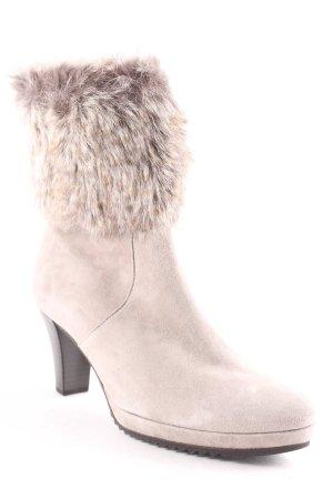 Gabor Reißverschluss-Stiefeletten graubraun Casual-Look