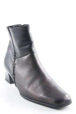 Gabor Reißverschluss-Stiefeletten schwarz-bordeauxrot Farbverlauf Casual-Look