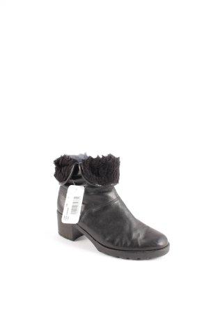 Gabor Reißverschluss-Stiefeletten schwarz Urban-Look