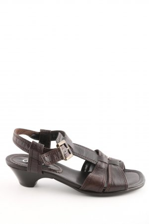 Gabor Strapped Sandals brown casual look