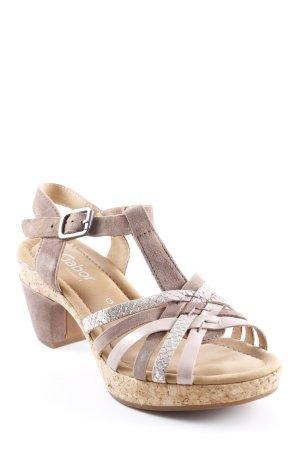 Gabor Riemchen-Sandalen beige Elegant