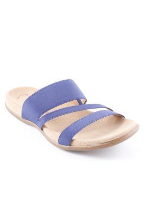 Gabor Strapped Sandals sand brown-dark blue beach look