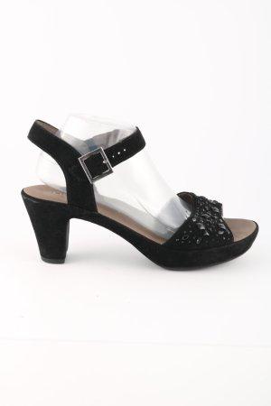 Gabor Riemchen-Sandalen schwarz Elegant