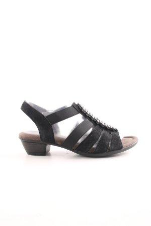 Gabor Riemchen-Sandaletten schwarz Elegant