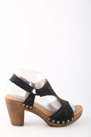 Gabor Strapped High-Heeled Sandals bronze-colored-black extravagant style