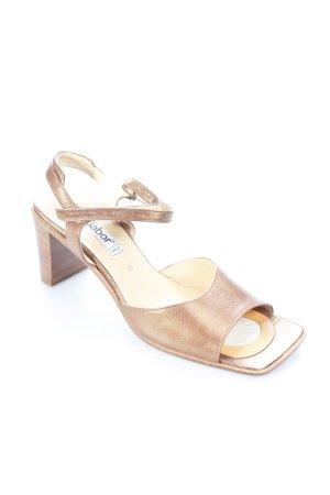 Gabor Riemchen-Sandaletten bronzefarben klassischer Stil