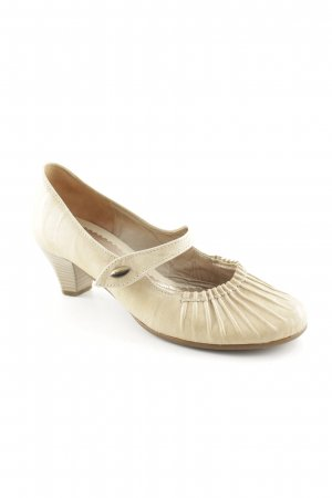 Gabor Strapped High-Heeled Sandals cream-beige minimalist style