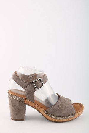 Gabor Strapped High-Heeled Sandals light grey casual look