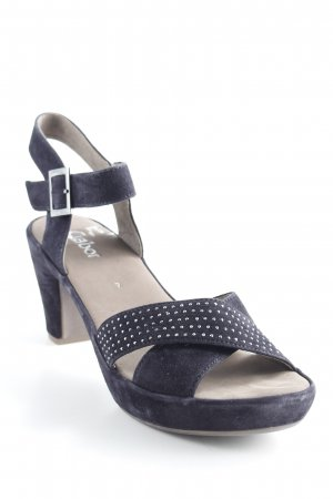 Gabor Strapped High-Heeled Sandals dark blue elegant
