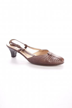 Gabor Strapped High-Heeled Sandals dark brown