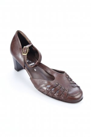 Gabor Strapped High-Heeled Sandals dark brown '70s style