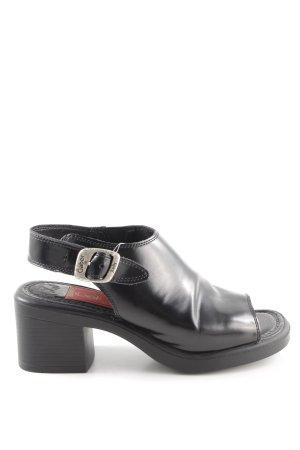 Gabor Sandalen met bandjes en hoge hakken zwart casual uitstraling
