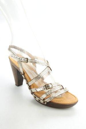Gabor Riemchen-Sandaletten goldfarben-hellbraun extravaganter Stil