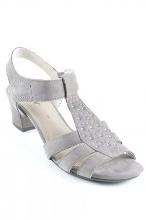 Gabor Strapped High-Heeled Sandals grey brown casual look
