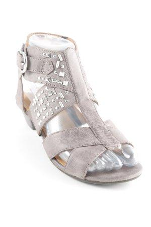 Gabor Riemchen-Sandaletten graubraun Casual-Look