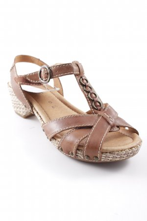Gabor Strapped High-Heeled Sandals light brown beach look