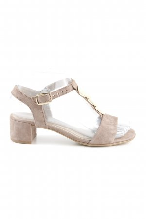 Gabor Strapped High-Heeled Sandals light brown-gold-colored casual look