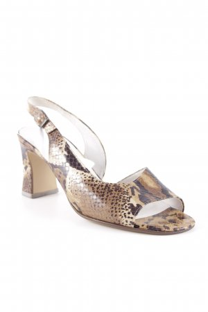 Gabor Strapped High-Heeled Sandals sand brown-dark brown animal pattern