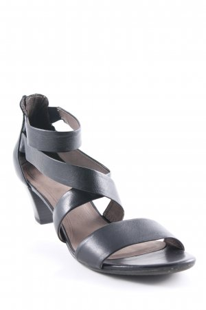 Gabor Strapped High-Heeled Sandals black casual look