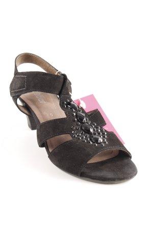 Gabor Strapped High-Heeled Sandals black elegant