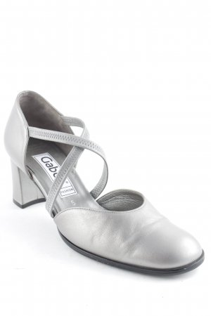 Gabor Strapped High-Heeled Sandals silver-colored elegant