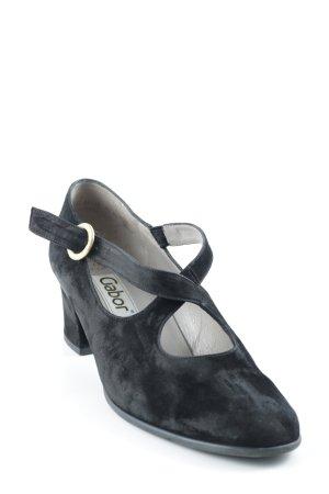 Gabor Riemchenpumps schwarz klassischer Stil