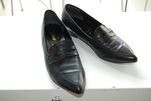 Gabor Zapatos brogue negro Cuero