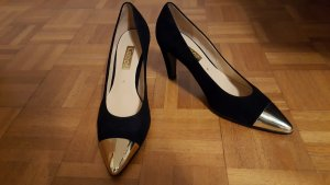 Gabor Pointed Toe Pumps black-gold-colored
