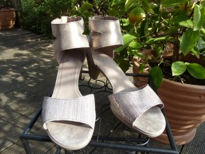 Gabor Strapped High-Heeled Sandals gold-colored