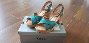 Gabor Platform High-Heeled Sandal turquoise