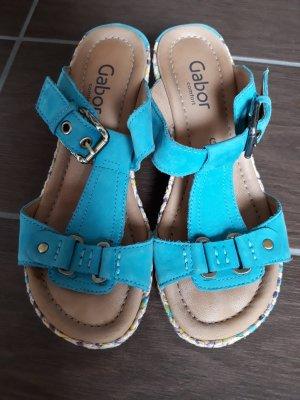 Gabor Comfort Comfort Sandals neon blue-light blue leather