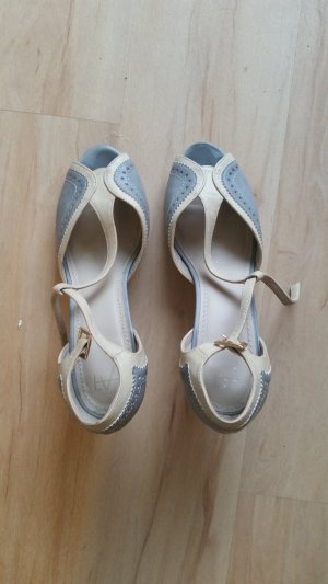 Gabor Strapped Sandals white-pale blue leather