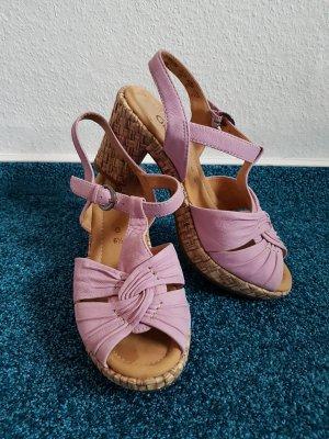 Gabor Comfort Plateauzool sandalen mauve Leer